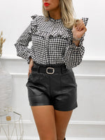 Short simili-cuir JANA - NOIR