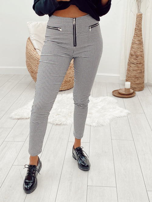Pantalon à carreaux CATINA