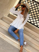 Blouse BELLA - BLANC (6664687419546)