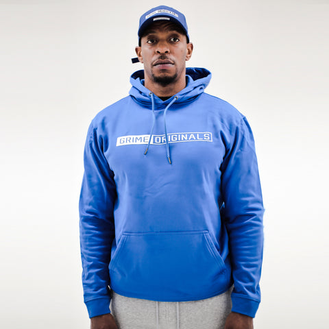 Royal Blue Hoody Classic Strip