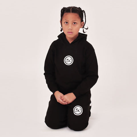 Kids Crown Black Joggers