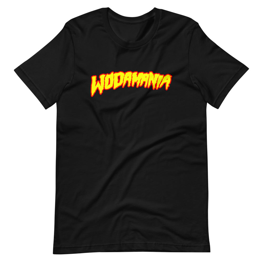WODAMANIA - Yellow Logo on Black Tee
