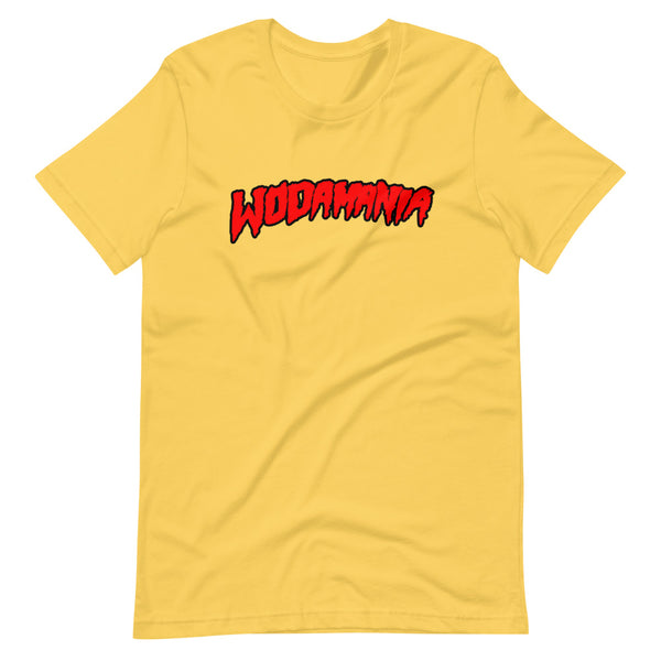 WODAMANIA - Red Logo on Yellow Tee
