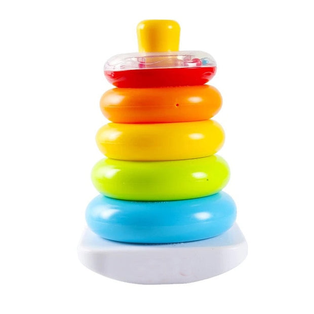 Rainbow Stacking Rings Early Development Toys.