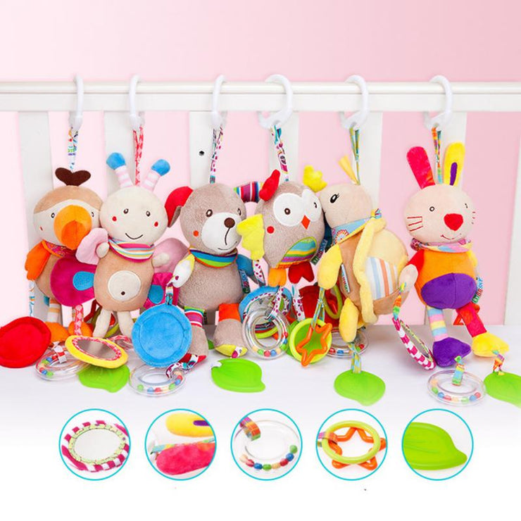 Animals Plush Rattles