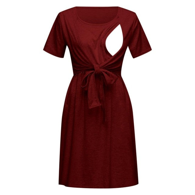 Women Maternity Nursing Dresses.