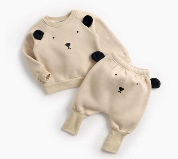 Animal Printed Baby Pullover Set