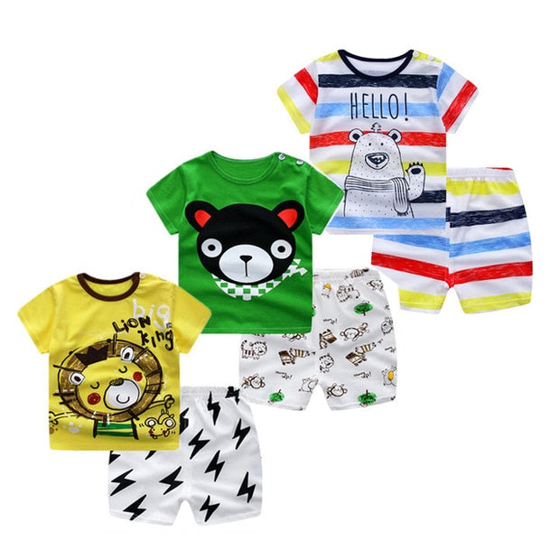 Baby Boys And Girls Clothing Set 3pcs/lot