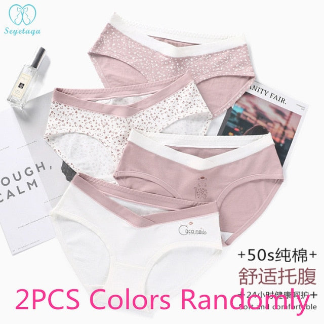 Printed Cotton Maternity Panty