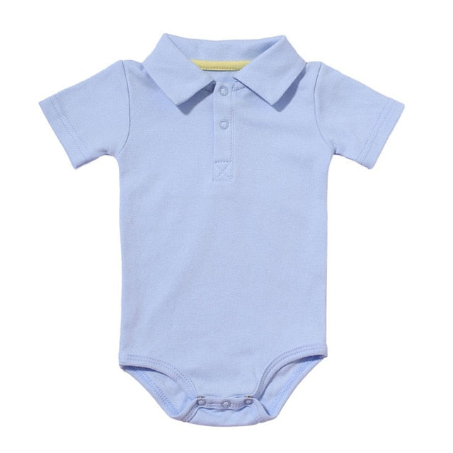 Turn-down Collar Baby Jumpsuit
