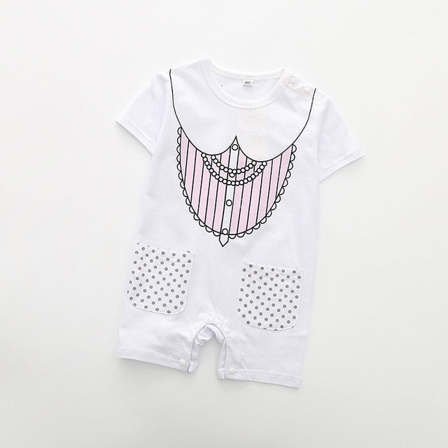 Summer Style Short Sleeve Baby Rompers