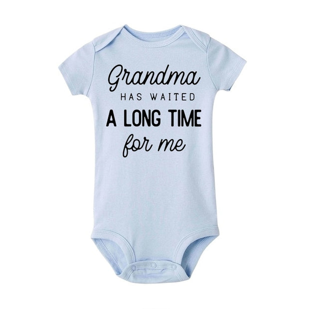 Grandma Waited A Long Time for Me Baby Bodysuit