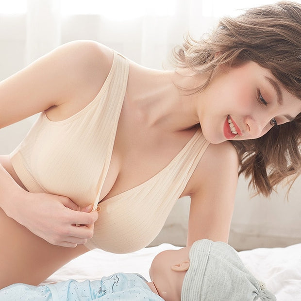 Wirefree Cotton Nursing Bra