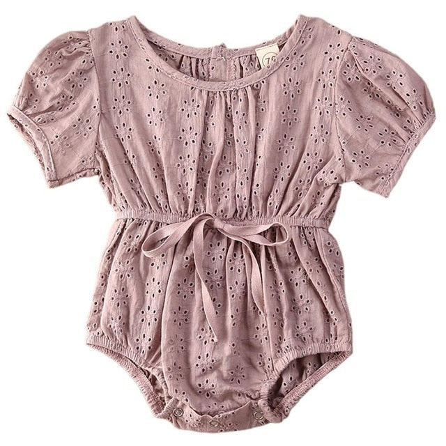 Long Sleeve Lace Baby Girl Onesie