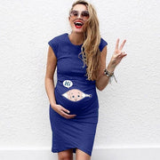 Summer sleeveless Pregnancy Dress.