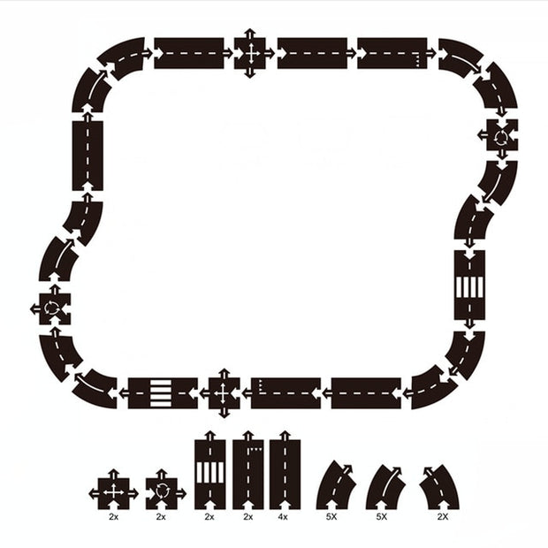 Traffic Roadway Track Puzzle Toy.