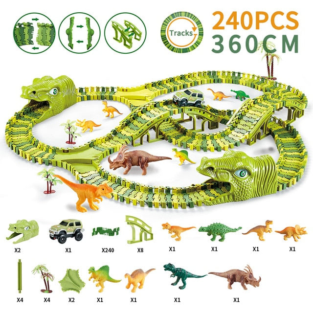 Dinosaur Railway Toy Car Track
