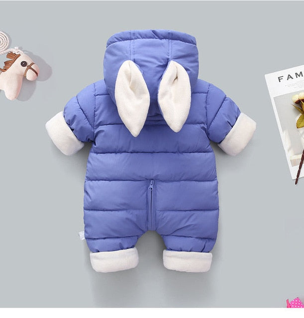 Hooded Baby Bunny Jumpsuit