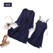 2 Piece Lace Nursing Sleepwear