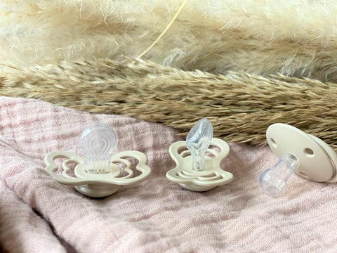 Range of silicone pacifiers