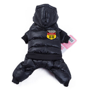 Waterproof PU Dog Jacket Winter Warm Pet Clothes For Small Dogs Puppy Clothing Chihuahua Hoodies French Bulldog Apparel Pug Coat