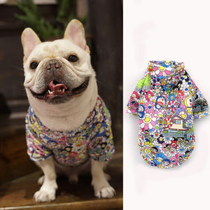 Summer Cartoon Pet Dog Clothes Puppy Tshirt Vest Letter Dogs Clothes Shirts For Small Medium Dogs French Bulldog Outdoor Ropa
