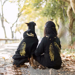 Fashion Dog Clothes Winter Warm Pet Wing Hoodie For Medium Large Dogs Doberman Husky French Bulldog Corgi  Jacket Coat TLC24