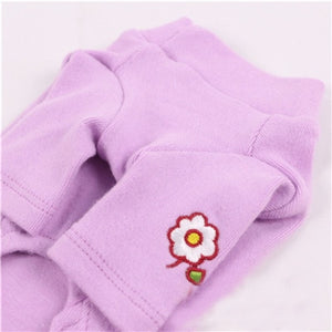 White Pink Pet Clothes For Girls Embroidery Flower on Clothes Collar Teacup Cat Bubble Sleeves Dog Clothing Spring Coat Hoodies