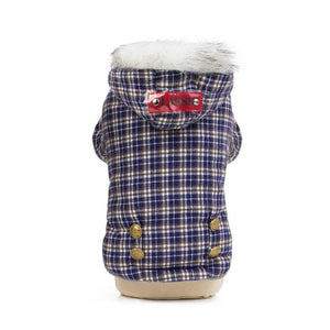 Winter Dog Clothes Jacket Lattice Pets Outfits Warm Clothes for Small Dogs Costumes Coat Jacket Puppy Sweater Dogs Chihuahua