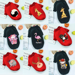 Winter Clothes for Dog Hoodie Flamingo Design Sweater for Dogs Cute French Bulldog Clothes Warm Puppy Clothes Dog Winter Jacket