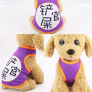 T-shirt Soft Puppy Dogs Clothes Cute Vest Shirt Pet Clothing Cartoon Costume Shirt Casual Vests for Small Pet Outfits Supplies