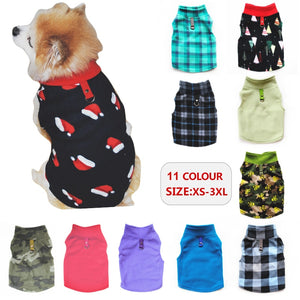 Warm Winter Dog Clothes Fleece Vest for Dog Puppy Fleece Clothing Soft Plaid Costume Doggy Autumn Winter Animal Pet Jacket 40