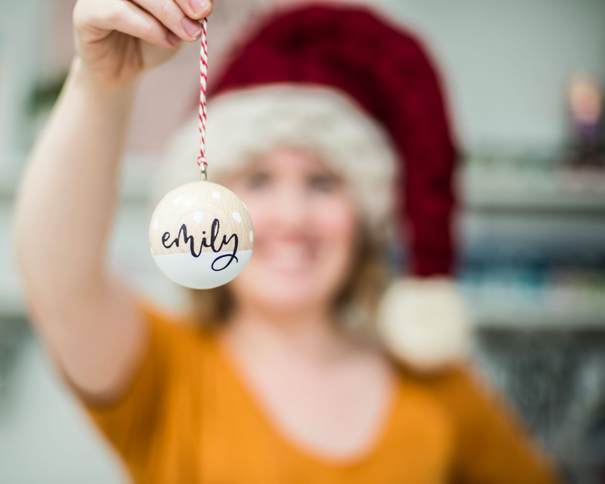 PRE-ORDER: Personalised Wooden Baubles with Gift Box