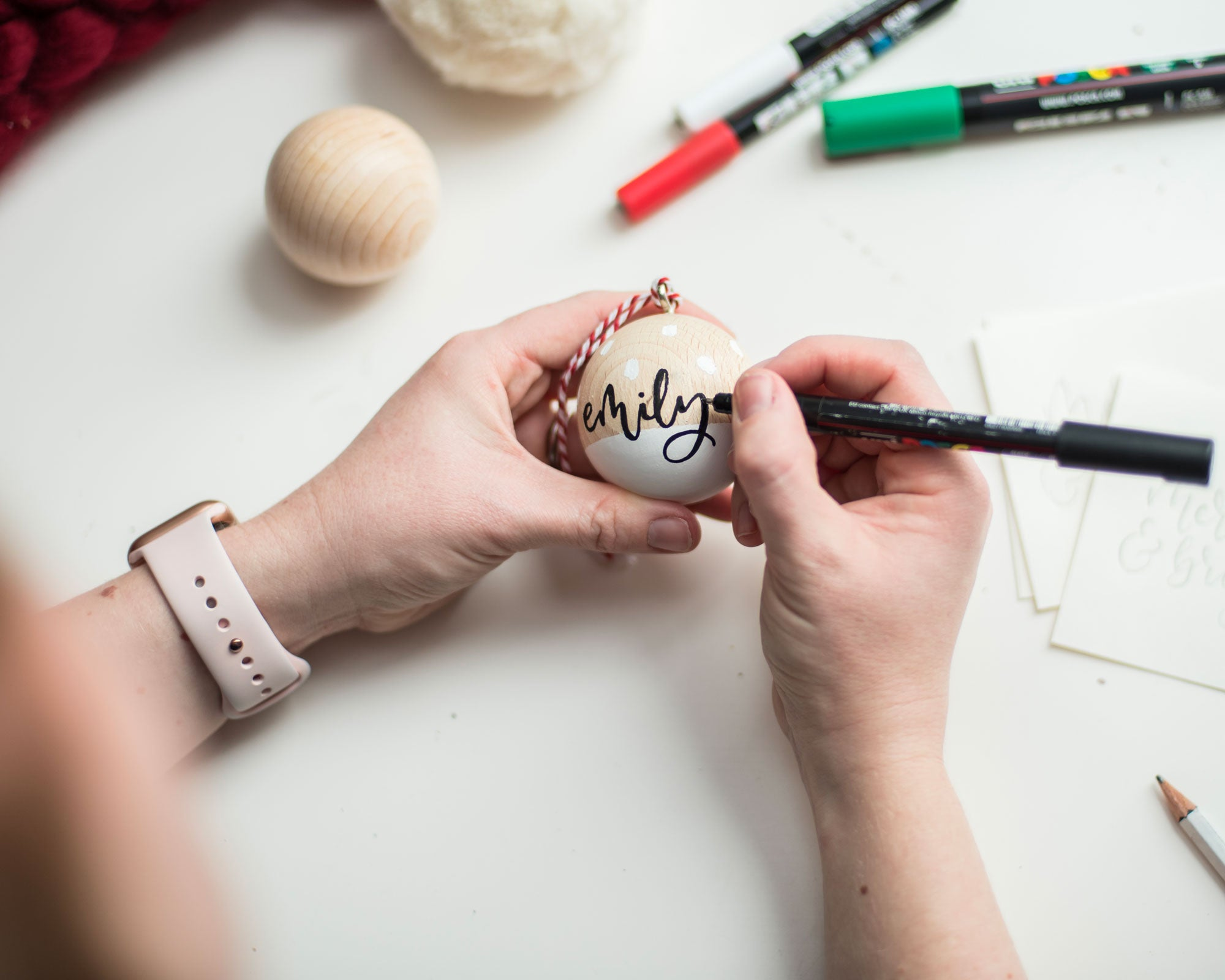 PRE-ORDER: Personalised Wooden Baubles