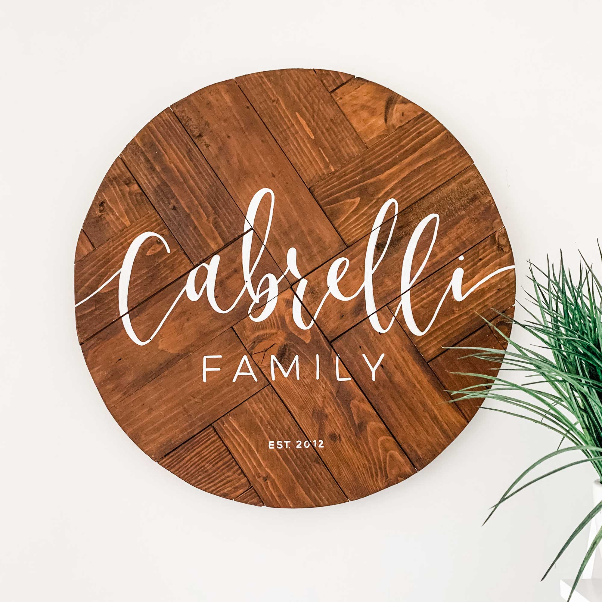 Personalised Family Pallet Sign