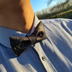 adult bow ties made of cork and wood