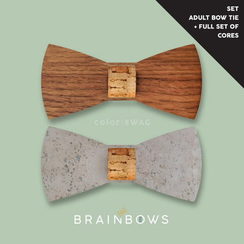 adult wooden bow tie and full set of cores