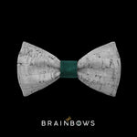 kids bow tie core green velvet