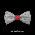 kids bow tie core dark red
