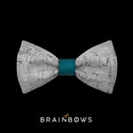 kids bow tie core teal