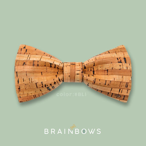 bamboo lines cork bow tie