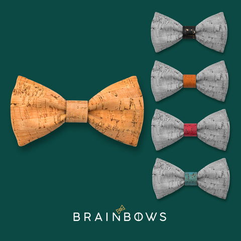 bamboo cork bow tie with 5 cores