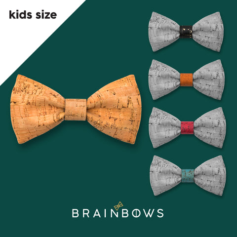kids cork bow tie with 5 colors of cores