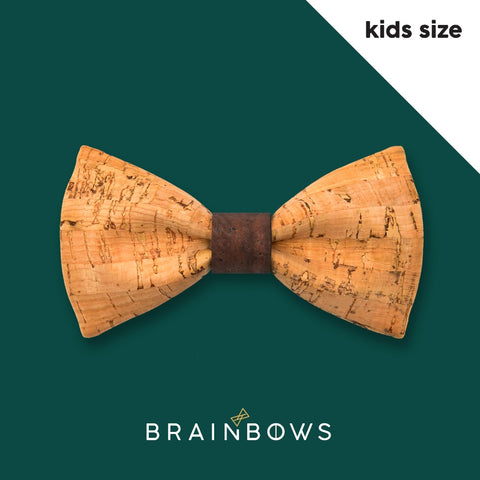 kids cork bow tie with dark brown core
