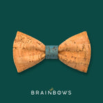 cork bow tie with denim blue core