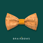 cork bow tie with yellow mustard core