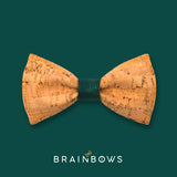 cork bow tie with dark green core