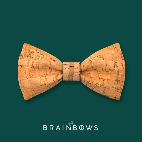 bamboo cork bow tie with bamboo lines core