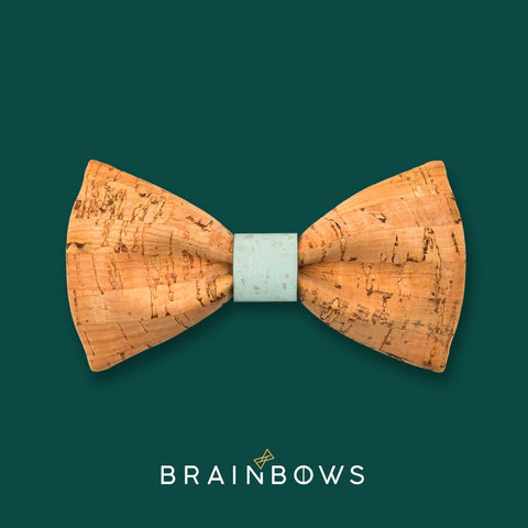 bamboo cork bow tie with mint core