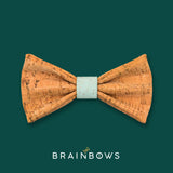 cork bow tie with mint core